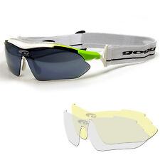 Goggle Skibrille Langlauf Touren Ski Sonnenbrille mit Band + klare gelbe Scheibe