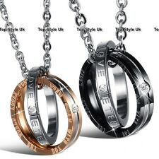 BLACK FRIDAY DEALS Couple Rings Necklace For Men & Women Boyfrind Girlfriend W2