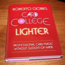 Card College Lighter by Roberto Giobbi Pro Self Working Card Tricks Magic
