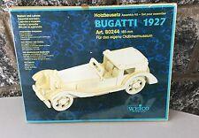 Vintage#Holzbausatz Assembly Kit BUGATTI 1927 Weico#NIB SEALED