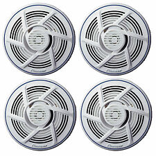 "4 X New Pioneer 6.5"" Inch Marine Boat Yacht Outdoor Stereo Speaker White Color"
