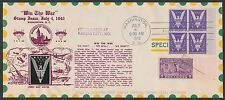 """#905 JULY 4,1942 """"WIN THE WAR"""" ON CROSBY FDC CACHET BR2534"""