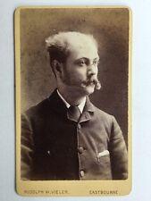 Victorian Carte De Visite CDV Photo - Rudolph W Vieler - Eastbourne - Gentleman