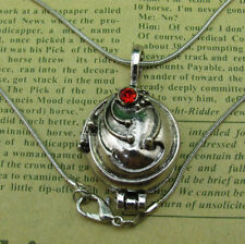 The Vampire Diaries Elena's Vervain Antique Silver Locket Vintage Necklace