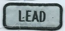 Lead name tag patch 1-5/8 X 3-5/8