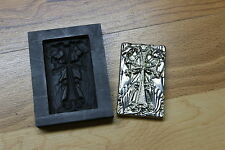 Stellar Cross and Angel BAR Graphite mold for Silver Gold Copper Pewder lampwork