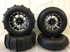 "STI 28"" Sand Drifter Front & Rear Paddle Tires HD Alloy Wheels Polaris RZR1000"