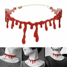 2016 Halloween Cutting Bloodstain Unisex Necklace Choker Cosplay Party Decor 1X