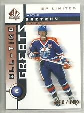 Wayna Gretzky 2001-02 SP Limited Edmonton Oilers Hockey Card #76/150
