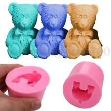 Handmade Cute Bear Silicone Candle Soap Mould Chocolate Resin Clay Candle Mold