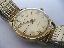 FABULOUS~VTG BULOVA DATE KING ROMAN NUMERAL MENS AUTOMATIC WRISTWATCH~1974
