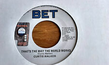 Curtis Walker      ** That ' s The Way The World Works  **     BET IT'S A HIT -