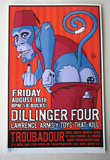 DILLINGER FOUR- ORIGINAL SIGNED & NUMBERED CONCERT POSTER by Brian Ewing