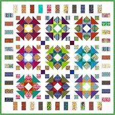 """QUIRKY WORK - 68"""" - Quilt-Addicts Pre-cut Patchwork Quilt Kit Double size"""