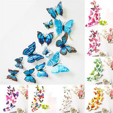 12pcs 3D Butterfly Design Decal Brt Wall Stickers Room Decorations Home Decor B