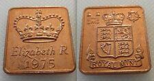 Coleccionable Royal Mint prueba Año medallón Medalla Token 1975-Elizabeth R
