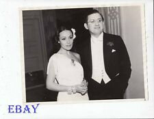 Dolores Del Rio David O. Selznick VINTAGE Photo candid 1936