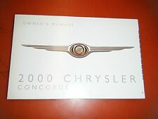 2000 CHRYSLER CONCORDE  FACTORY OPERATORS OWNERS MANUAL GLOVE BOX