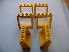 Lego 6 parebrises jaunes set 6329 9280 390 9255 / 6 yellow windscreen