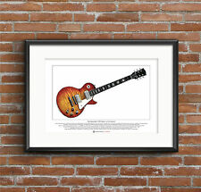 Mike Bloomfield's Gibson Les Paul Standard Ltd Edition Fine Art Print A3 size