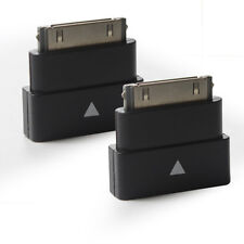 2Packs Black Exension Dock Extender 30 Pin Adapter for iPod, iPhone 4/4S