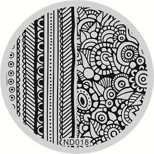 Nail Art Stamping Image Plates Stencil Manicure Template Featuring Design DIY