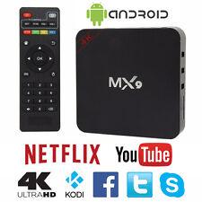 MX9 4K 2K 1080P Smart TV BOX XBMC/Kodi H.265 Android Quad Core WiFi 8GB Mini PC