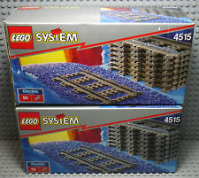 LEGO System Train - 2 boites du set 4515 Straight Rails for 9v Trains - 1991