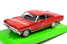 CHEVROLET IMPALA SS 396 1965 RED WELLY 22417 1:24 NEW DIECAST MODEL
