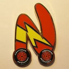 REAL Lightning McQueen CARS New Generation Letter N DLRP Paris Disney Pin Icon