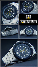 DIVER'S -CAT -CHRONOGRAPH SHOCK PROTECTED MEN'S WATCH 20- TIGHT NEW BAR WATER