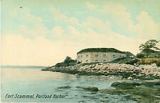 Fort Scammel on House Island Portland Harbor Postcard Civil War