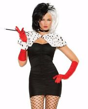 Cruella De Vil Sexy Costume Medium M Women Cosplay Halloween Dress Disney Dog