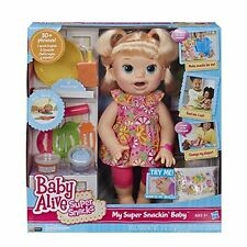 NEW Baby Alive Super Snacks Snackin' Sara Blonde FREE SHIPPING