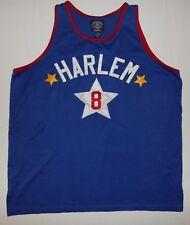 Vintage Steve & Barry's Sewn Harlem # 8 Men's Large Blue Basketball Jersey