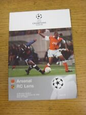 25/11/1998 At Wembley: Arsenal v Lens [European Cup] . Good condition unless pre
