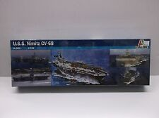 ITALERI 1/720 SCALE USS NIMITZ CV-68 AIRCRAFT CARRIER MODEL KIT MILITARY 503 NIB