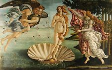 BIRTH OF VENUS, 1486 Sandro Botticelli Reproduction Rolled CANVAS PRINT 36x24 in