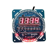 NEW DS1302 Rotating LED Electronic Digital Clock 51 SCM Learning Board 5V Module