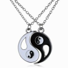 Two part Yin Yang  Pendant Necklaces  = UK SELLER =