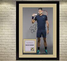 ROGER FEDERER Firmato Autografato tennis cimeli un CON CORNICE FOTO