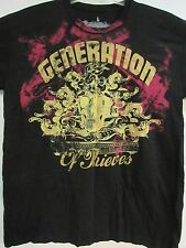 NEW - GENERATION OF THIEVES CLOTHING CO. SKULL TRIBAL GOTHIC T-SHIRT EXTRA LARGE