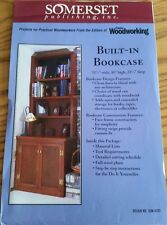 SOMERSET 4103 BUILT IN BOOKCASE WOOD PLANS DO IT YOURSELF PATTERN