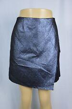 Anne Klein Womens 18 Blue Shimmer Short Skirt Mid Thigh Length NEW Shiny Glitter