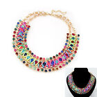 New Exquisite luxurious Crystal braided rope Metal Bib Fashion collar Necklace