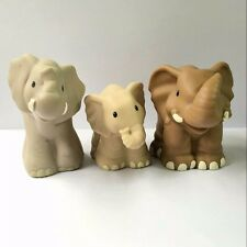 3x Fisher-Price Little People Zoo Park Farm Animal Elephant Family figure Toy