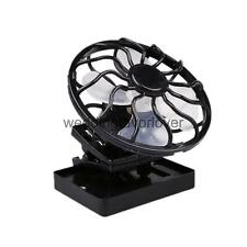 Portable Sun Power Fan Solar Cell Hat Clip Cooler Outdoor Fishing Cycling
