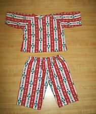 "16""  CPK Cabbage Patch Kids STRIPED FLANNEL PAJAMAS PJS outfit ONLY"