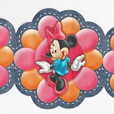Disney's  Minnie Mouse & Funky Modern Flowers - ONLY $6 -  Wallpaper Border 83