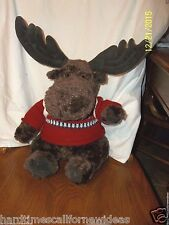 """Gund American Eagle MAC THE BROWN MOOSE Plush With Sweater & Backpack 18"""""""